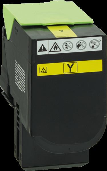 80C2SY0 Rebuilt Tonerkassette gelb